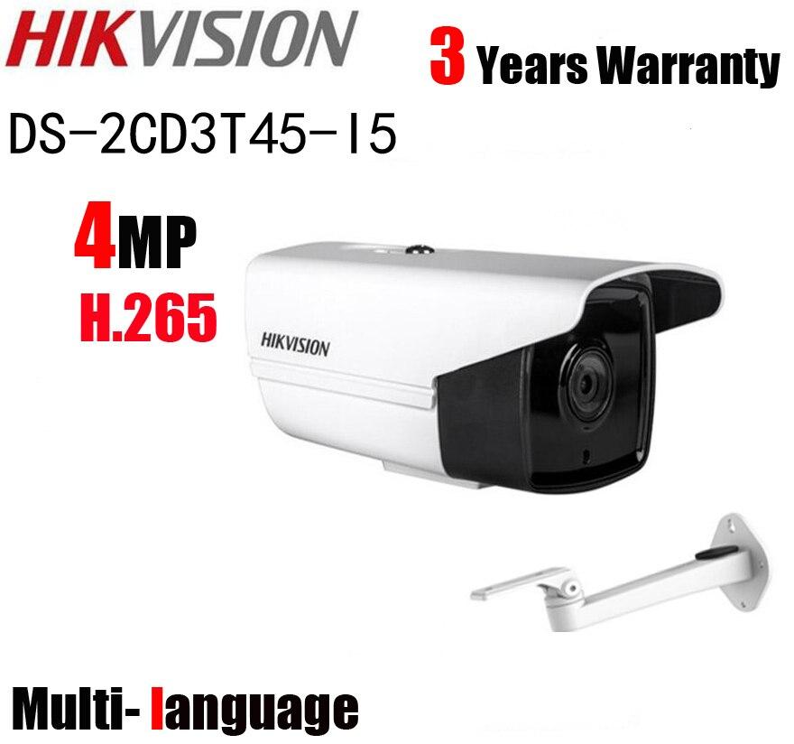 bilder für Mehrsprachige HIK DS-2CD3T45-I5 Full HD 4MP mit halterung H.265 HEVC Für Privatanwender Seurity 50 Mt IR Reichweite POE IP Cctv-kamera