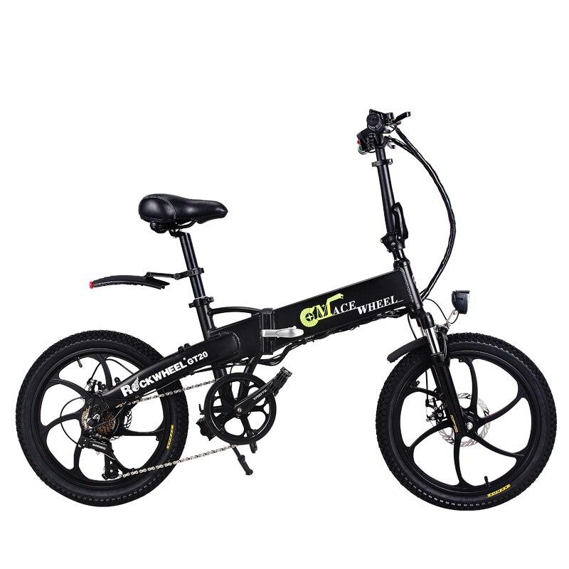 Бесплатная доставка 20 дюймов электрический велосипед 48V10AH литиевая батарея скрытая в рамке 350 Вт высокая скорость двигателя складной элект...