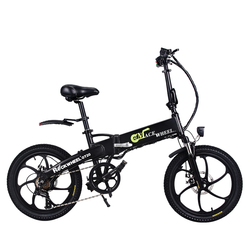 Free shipping 20inch electric bicycle 48V10AH lithium battery hidden in frame 350W high speed motor fold
