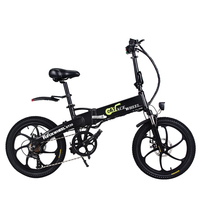 Free shipping 20inch electric bicycle 48V10AH lithium battery hidden in frame 350W high speed motor fold electric bike EU no tax
