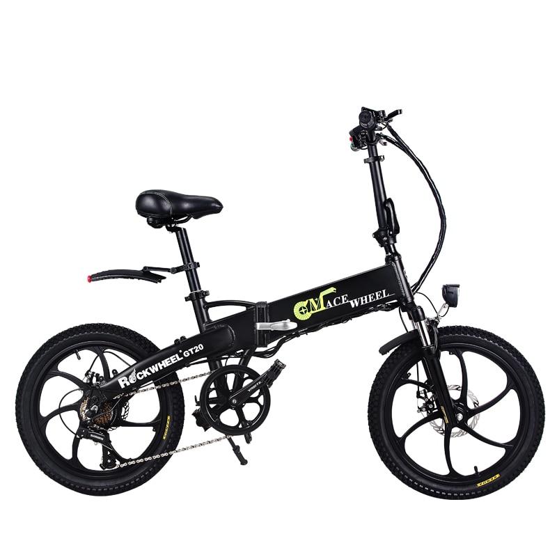 Il trasporto libero 20 pollici bicicletta elettrica batteria al litio 48V10AH nascosto nel telaio 350 w ad alta velocità del motore fold bici elettrica UE no tax