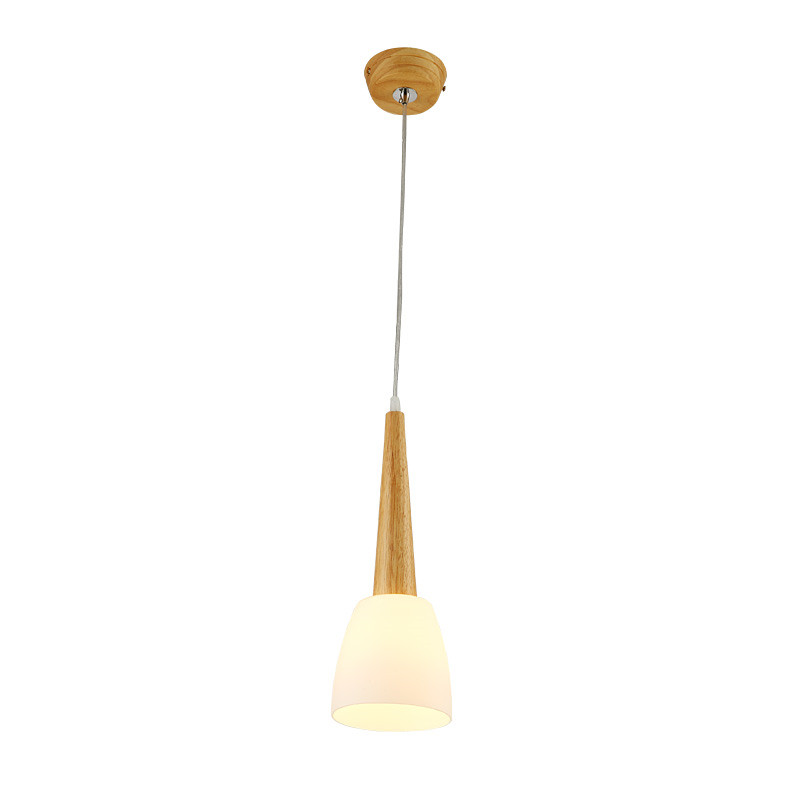 цена BLUBBLE 1/3 Heads Microphone Pendant Lights AC 90-260V 70*13cm LED Hanglamp Parlor Bedrooms Wood Environment Pendant Lights