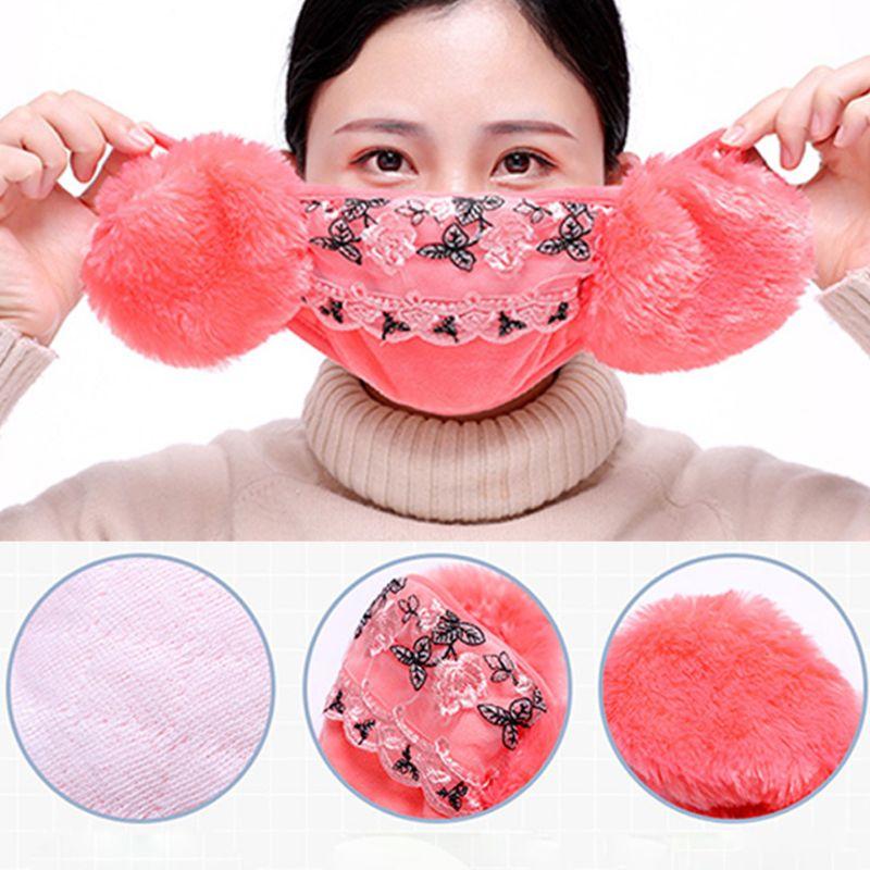 Erfinderisch Winter Staubdicht Maske Ohr Schutz Und Warm Halten Zwei-in-one Maske Mund Maske Warmes Lob Von Kunden Zu Gewinnen Bekleidung Zubehör Damen-accessoires