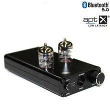 Bluetooth 5.0 APTX HIFI bile preamplificatore valvolare amplificatore preamplificatore bile buffer preamplificatore Per Cuffie DAC amplificatori RCA 3.5 MILLIMETRI