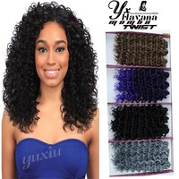 Beautiful Synthetic Deep Wave Afro Hair Extensions Crochet Braids Long Wavy Synthetic Hair Weave Natural Color