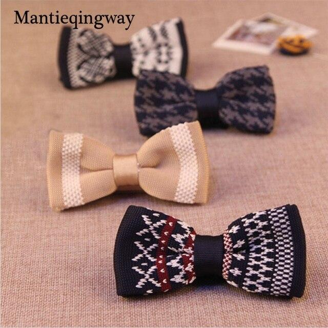 Mantieqingway Casual Strick Fliege für Männer Hochzeit Anker Muster ...