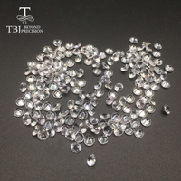 TBJ,Natural heated Sri Lanka white sapphire round4.5mm ,loose gemstone for 925 sterling silver or gold jewelry mounting