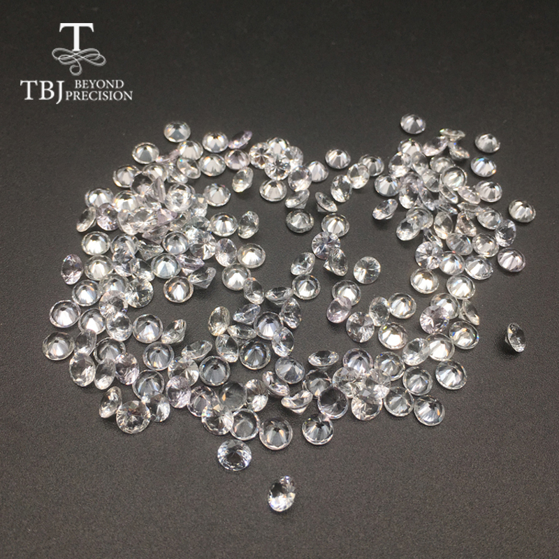 TBJ,Natural heated Sri Lanka white sapphire round4.5mm ,loose gemstone for 925 sterling silver or gold jewelry mounting цена