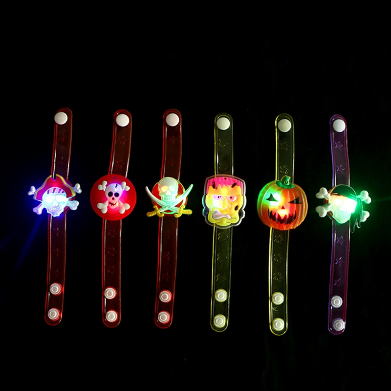 Jewelry & Accessories Bangles Dependable Halloween Ghost Festival Childrens Bracelet Led Flash Multicolor Toy Cartoon Pumpkin Wrist Wristband Shiny Toy