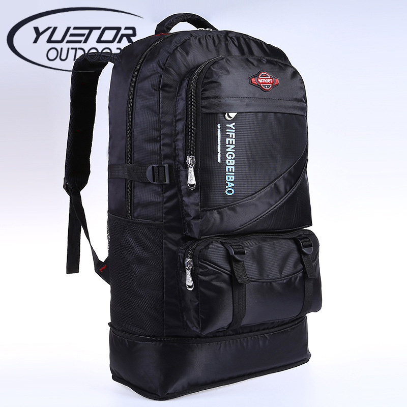 144a7a503f YUETOR 60L large waterproof outdoor hiking backpack camping mochila travel  rucksack climbing bag pack women men sport backpack