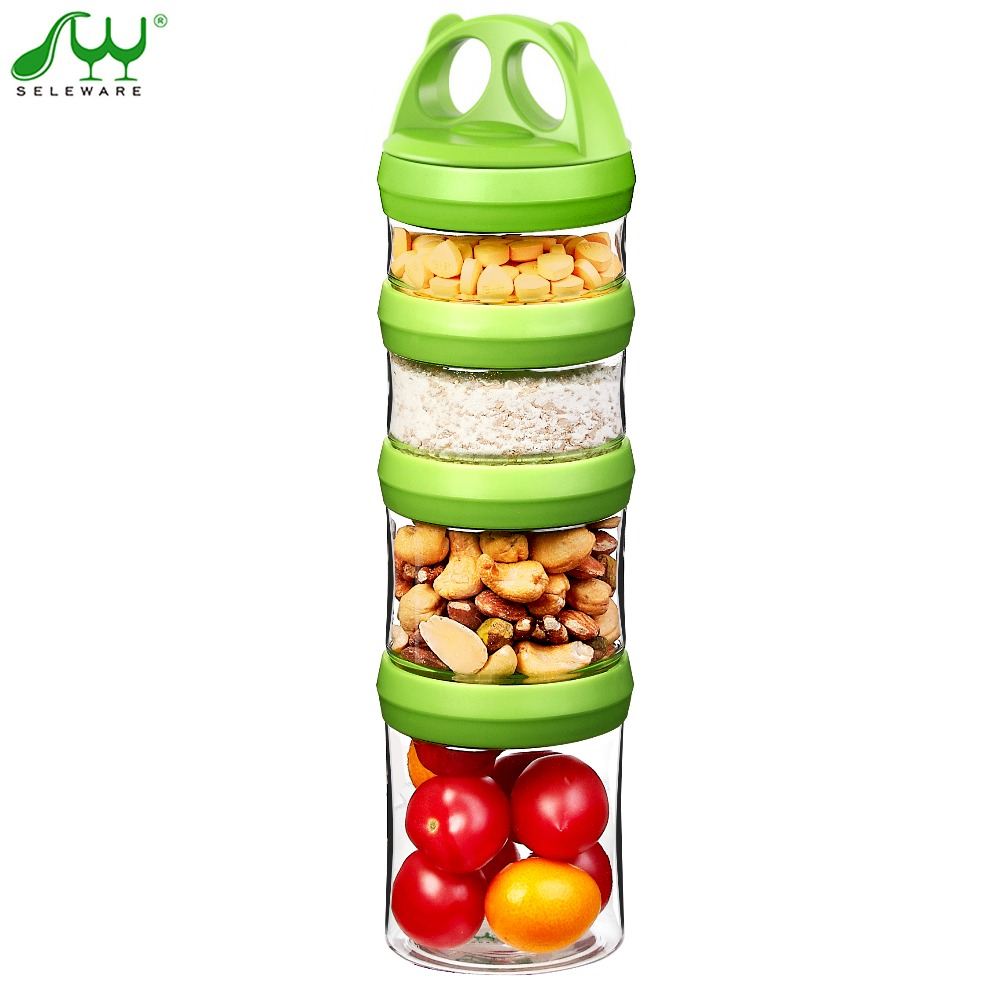 Twist Lock baby snack box baby food storage box BPA Free portable sealed snack jar formula milk powder dispenser kitchen storage-in Storage Bottles u0026 Jars ...  sc 1 st  AliExpress.com & Twist Lock baby snack box baby food storage box BPA Free portable ...