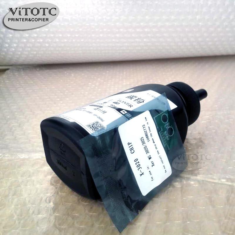 Toner Powde Reset Chip Compatible For Xerox Phaser 3020 WorkCentre 3025  Laser Printer Bottled Black Powder refillable 106R02773