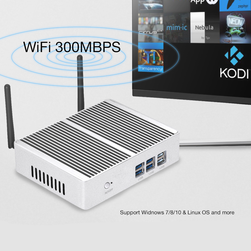Fanless Mini PC for Windows with Dual Output Display and WiFi 13