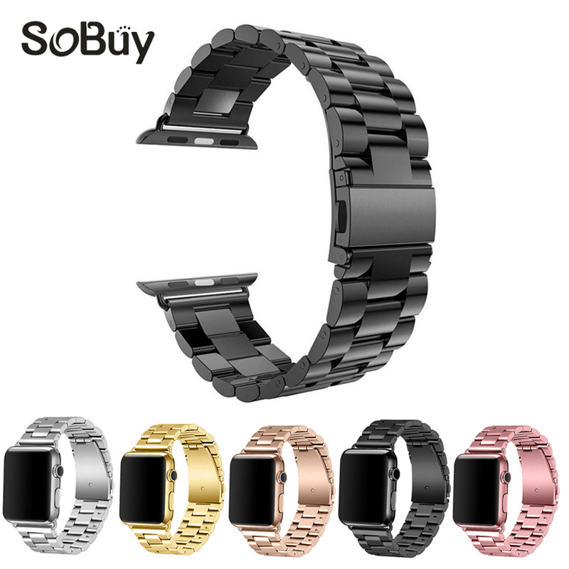 IDG for Apple Watch 1/2/3 Series Stainless Steel Bracelet iwatch Bracelet 38mm Metal Bracelet Men & Women 42mm watch band S1 S2 iw 8758g 3 men s and women s quartz watch fabric classic canterbury stainless steel watch with multi color striped band
