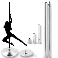 Spinning 360 Dance Pole Home premovable dance training pole for Beginner professional home gym stripper dance pole