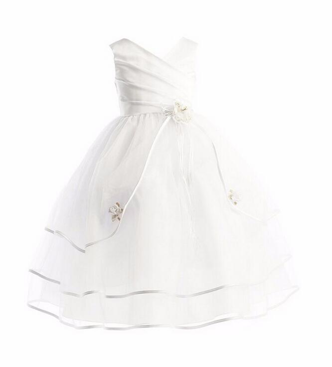 Nicoevaropa Flower Girl Dresses Pageant Prom Party White Dress Baby Kids Clothes Little Toddler Children Princess Dress infant baby kid children little girl pageant dress party dresses prom dresses 1t 6t g026