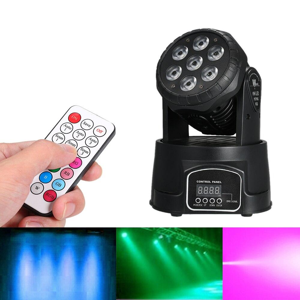 VIP bağlantı --- hareketli kafa disko ışık LED RGBW sahne ışığı 9/14 kanal DMX512 ses aktif DJ gösterisi sahne parti ışığı yeni yıl