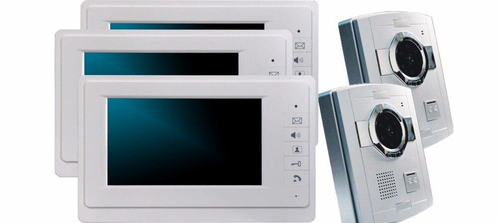 7 Inch Color Monitor Wired Intercom 700TVL Video Door Phone XSL-70F-S 2V3