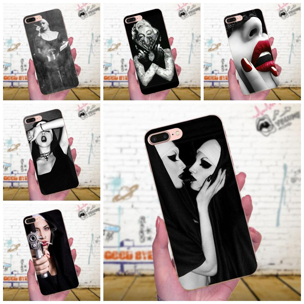 Soft Phone <font><b>Case</b></font> Cover Sister Nun <font><b>Sexy</b></font> <font><b>Girl</b></font> Upscale For <font><b>Galaxy</b></font> J1 J2 J3 J330 J4 <font><b>J5</b></font> J6 J7 J730 J8 2015 <font><b>2016</b></font> 2017 2018 mini Pro image