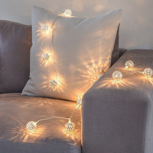 Image 3 - 10M Ball LED Christmas Garland Lights String Bedroom Fairy Lights Decoration For Wedding Home Holiday Lighting Party Light Chain