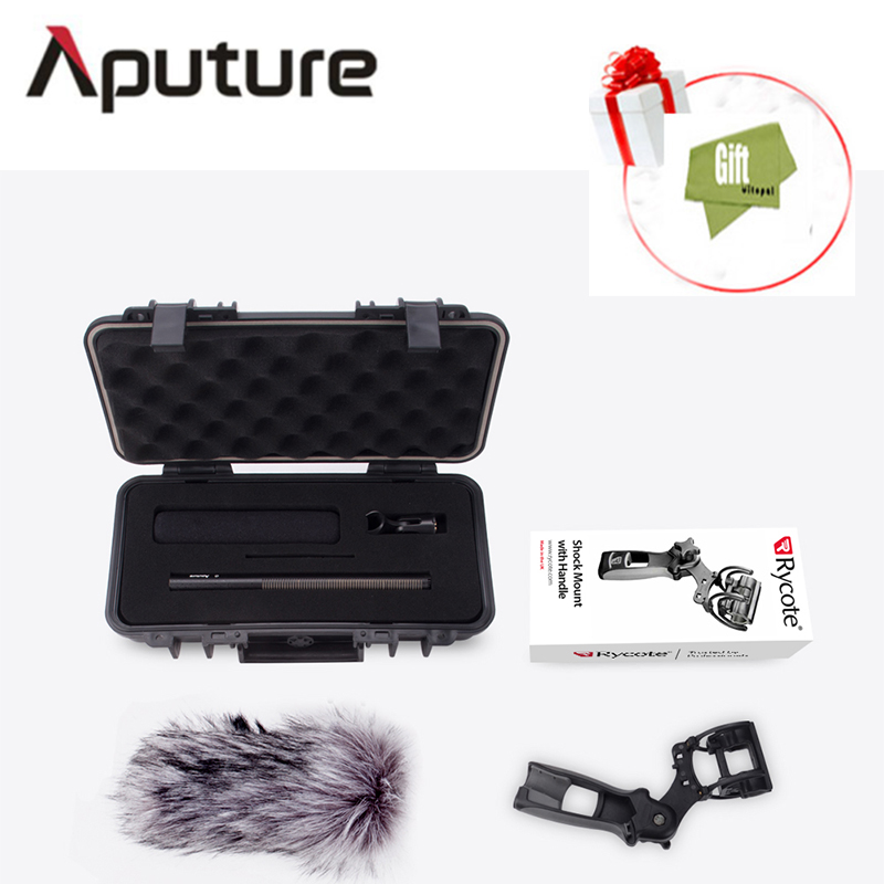 Aputure Deity Kit Super-Cardioid Condenser Shotgun Video Microphone Windscreen Waterproof Safe Case for Canon Nikon Camera by pvm1000l condenser microphone xlr 3 pin super cardioid directional for camcorder dslr smartphone video interactive film video