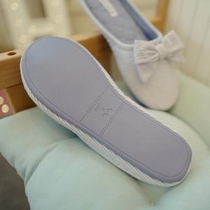 Image 5 - น่ารัก BowTie ชั้นรองเท้าแตะรองเท้าผู้หญิงรองเท้าลื่น Breathable Home House รองเท้าแตะในร่มห้องนอนฤดูใบไม้ผลิฤดูใบไม้ร่วง