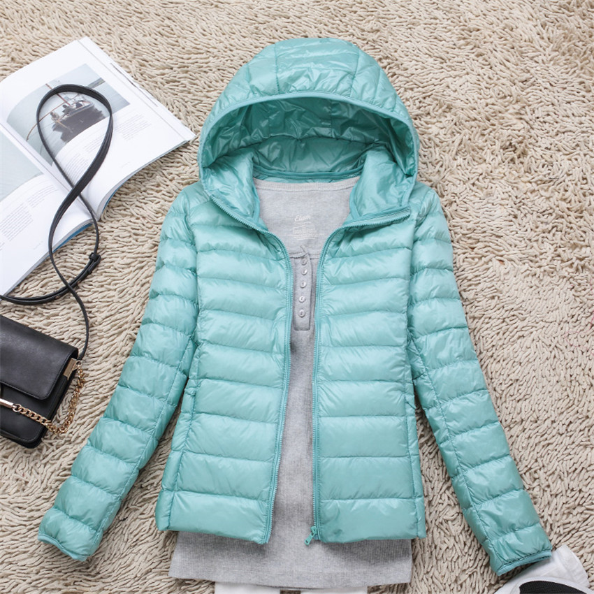 2019 New Women Slim Light   Down   Jackets Big Size White Duck   Down   Jacket Short   Down     Coat   Female Hooded Jacket Women   Coats   WZ796