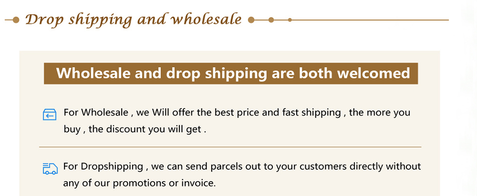 Drop shipping and wholesale