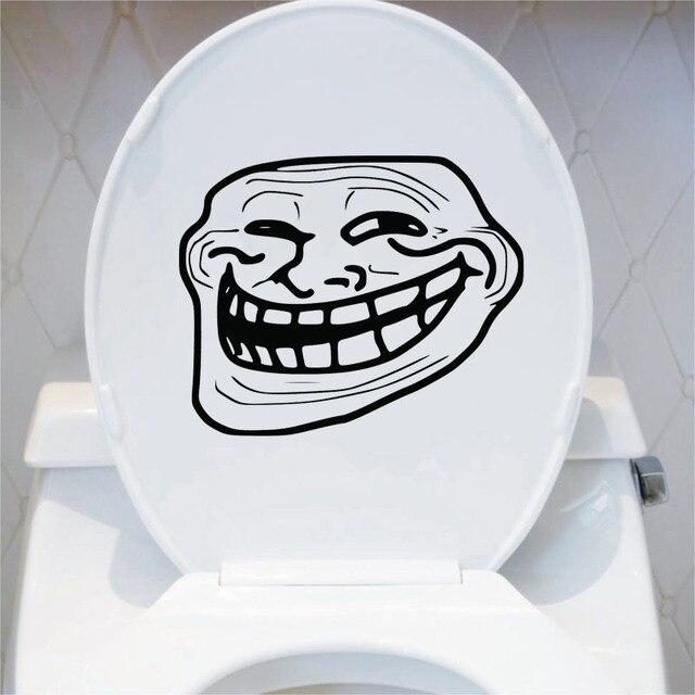 Troll Gesicht Lustige Cartoon Wc Aufkleber Badezimmer Dekoration