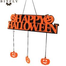 Halloween party Decoration HAPPY HALLOWEEN Hanging Hangtag Window door Doorplate Pumpkin Strips