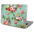 "New Top Vinyl Decal Laptop Sticker Front Skin Floral Print For Macbook Air 11""13"" Retina Pro 13""15""  With Apple Logo Cut Out"