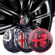 цена на 4pcs 56mm Car Wheel Center Hub Cap Cover Sticker Rim Emblem Badge Fit For Alfa Romeo Giulietta Spider GT Giulia Mito 147 156 159