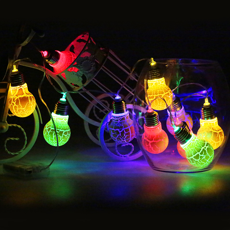 1M 10Leds Globe Connectable Festoon Ball String Fairy Christmas Lights Garland for Wedding Garden Party Colorful Light Bulb ...