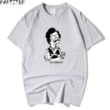 3dccb461 Men Trendy Melon Character Print Cotton Men T shirt Narcos Pablo Escobar Funny  T-shirts Short Sleeve Novelty Tops Tee Hipster