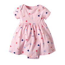 Baby Girls Princess Kids Party Dresses Cotton Newborn Costume Ruffle Flower Romper Dress Cute Animals Clothes