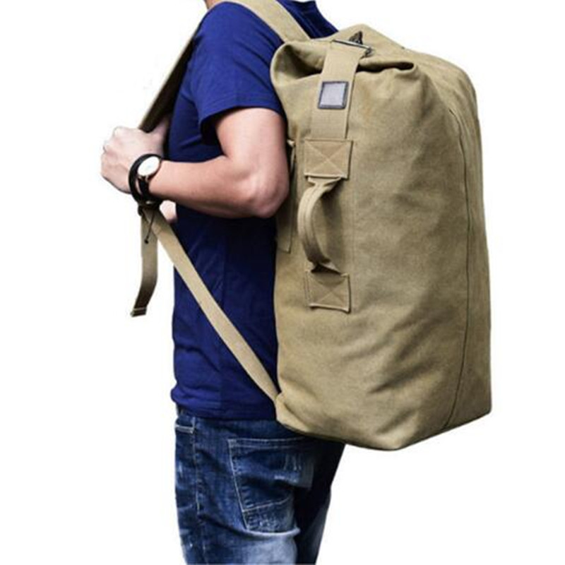 Luggage Bag Army Bucket Backpack Back Pack Multifunctional Military Canvas Backpack Cheap    Shoulder Bags