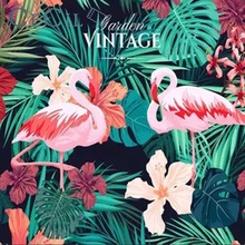 Flamingo Cloth INS Background Decoration Room Bedside Tapestry Wall Hanging North European Style Flannelette