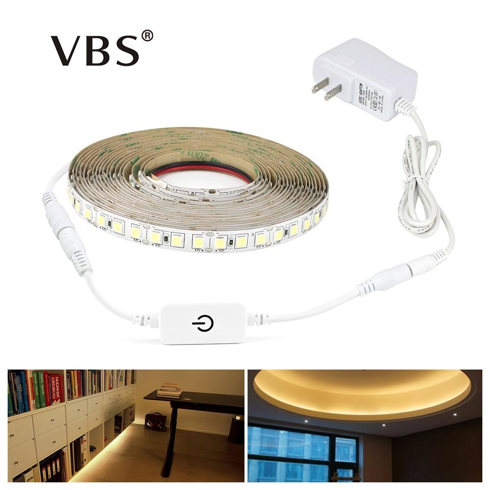 Dimmable LED Strip 12V 4040 SMD Led Stripe 300led 600leds Touch Dimmer Switch 110V-220V 2A Power Supply For Indoor Kitchen Light