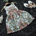 Niños Jacquard Vestido de 2016 Nuevos Vestidos de Las Muchachas de Flor Vestido de la Princesa del Bebé