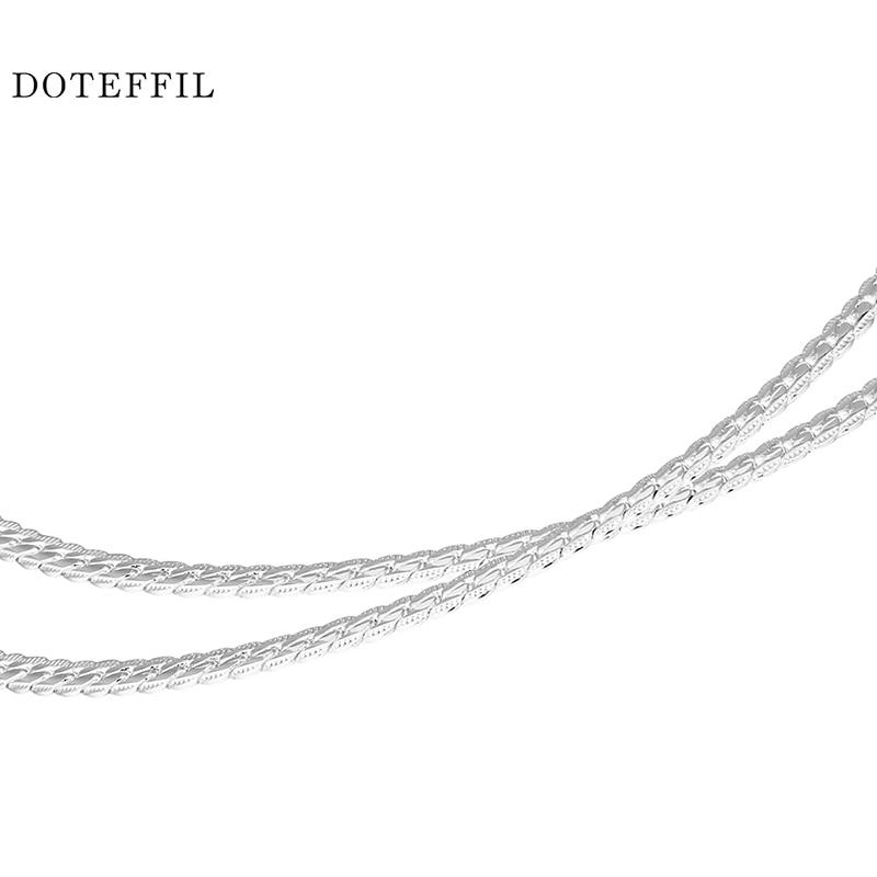 Nové přírůstky Ženy 6MM Full Side Silver náhrdelník 925 - Bižuterie - Fotografie 6