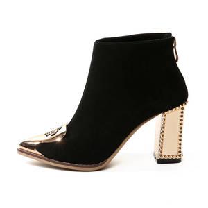Image 2 - MORAZORA 2020 di alta qualità della mucca pelle scamosciata stivali da donna in pelle punta a punta stivali con zip alla caviglia per le donne di modo degli alti talloni scarpe nero