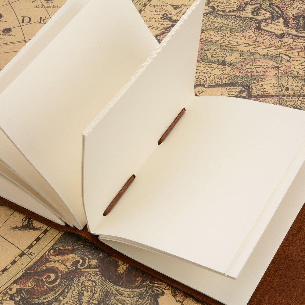 Handgjord äkta läder anteckningsbokstidskrift 5x7 tums - Block och anteckningsböcker - Foto 3