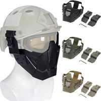 Nuevo Hombre pasamontañas Exterior Máscara para ciclismo máscara Airsoft invierno máscara MA-95 táctico guerrero de hierro máscara media cara módulo táctico máscara