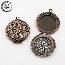 Buy picture frame pendants and get free shipping on aliexpress 50pcs romantic valentines day for him with your photo brass diffuser locket pendants picture frame charms mozeypictures Gallery