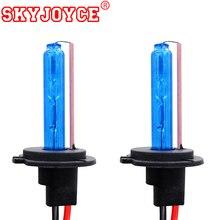 SKYJOYCE 35 Вт 55 Вт AC ксеноновые лампы H11 H1 HB3 HB4 Xenon H7 Deep Blue 30000 К H4 желтый розового и фиолетового цветов зеленый 4300 К-10000 К H27 Xenon