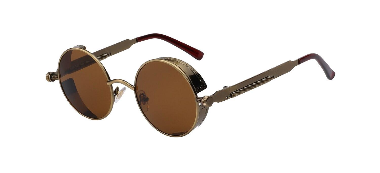 Brass w brown lens