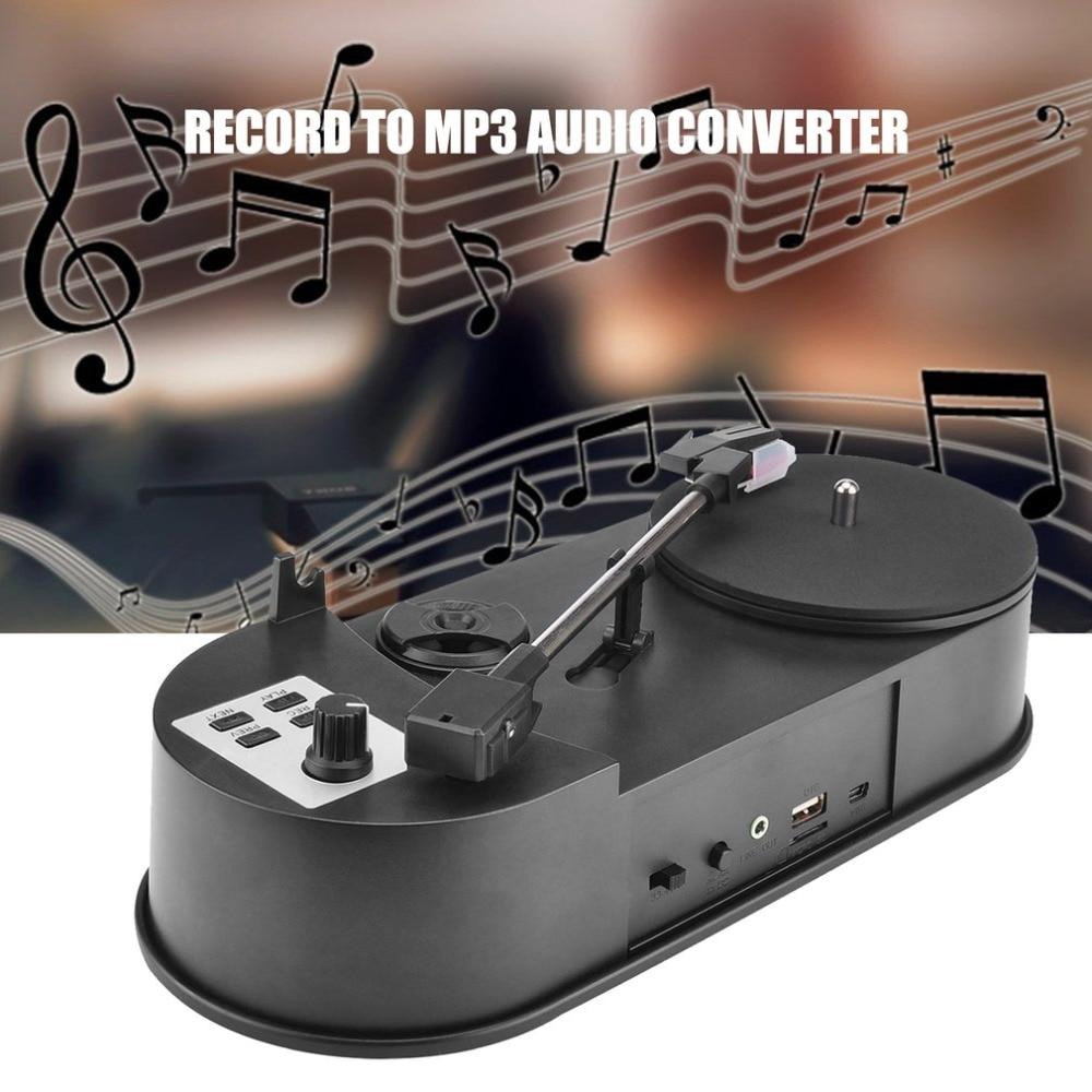 Mini platine vinyle Portable USB lecteur audio platine vinyle à convertisseur MP3/WaV/CD sans le PC 33 tr/min C008