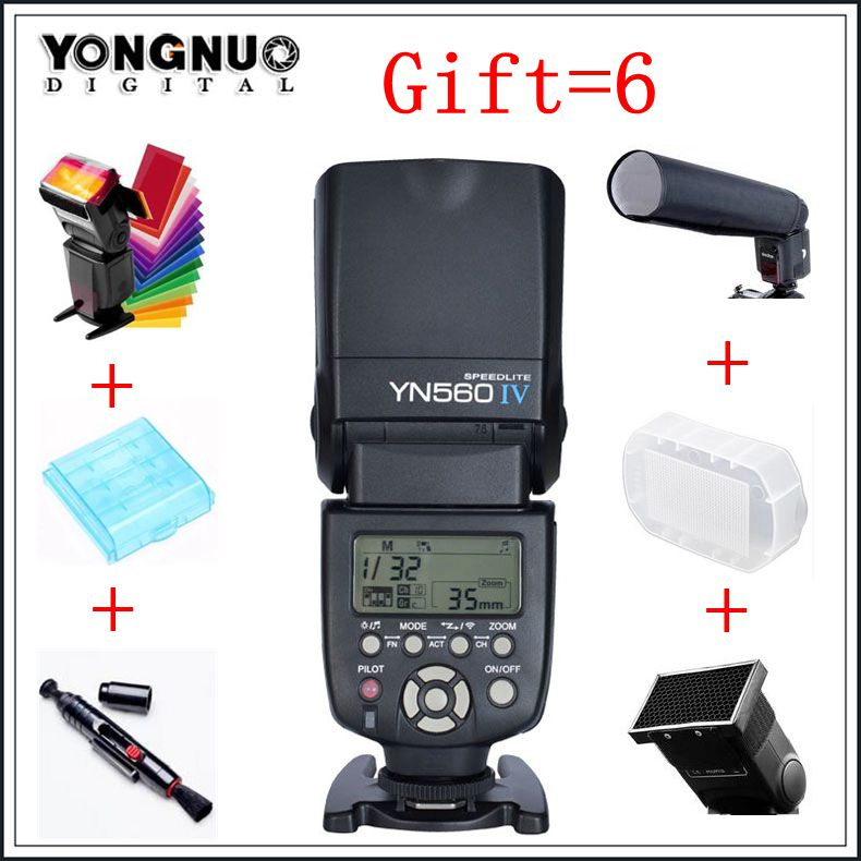 Yongnuo YN560 IV YN-560 IV Master Slave Radio Flash Speedlight with Built in Radio Trigger Flash for Canon Nikon Camera yongnuo yn560 iv yn 560 iv master radio flash speedlite rf 603 ii wireless trigger receiver for canon nikon dslr camera