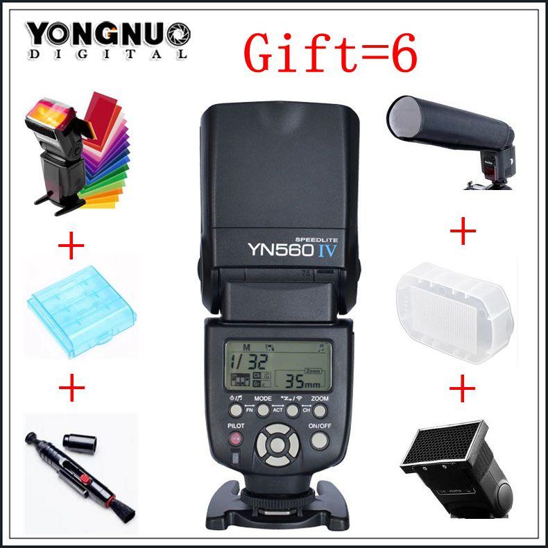 Yongnuo yn560 iv yn-560 iv maître esclave radio flash speedlight avec construit en radio déclencheur flash pour canon nikon caméra