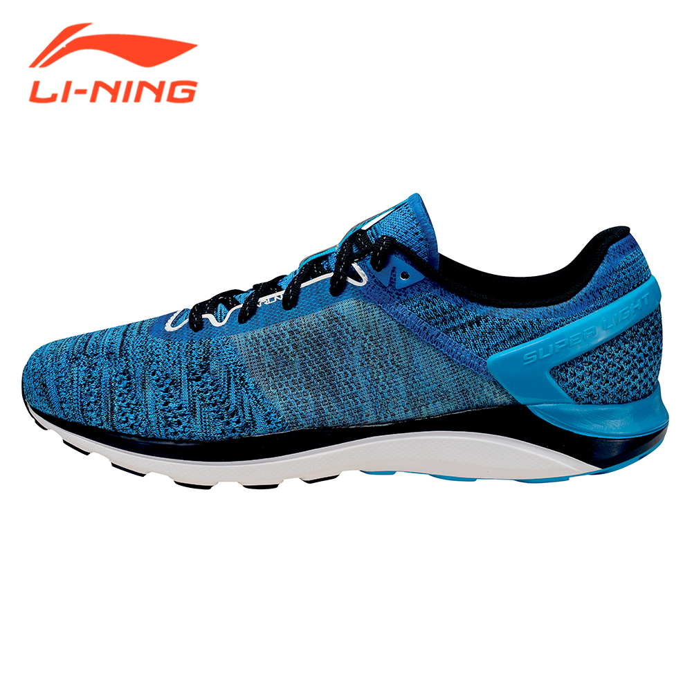 Li-Ning Brand Men's Light-weight Running Shoes Cushion Sneakers Summer Breathable Super Light Series LiNing Sport Shoes ARBM019 irl520a to 220